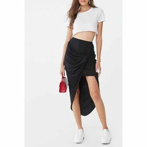 Skirts - Twisted Asymmetrical Skirt
